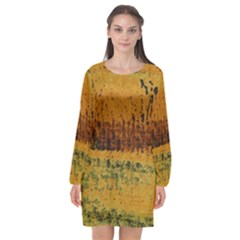 Fabric Textile Texture Abstract Long Sleeve Chiffon Shift Dress  by Sapixe