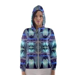 Abstract Glow Kaleidoscopic Light Hooded Windbreaker (women) by Sapixe