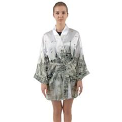 Pencil Drawing Drawing Port Long Sleeve Kimono Robe by Sapixe