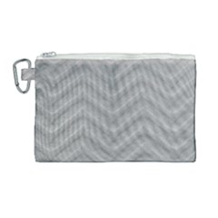 White Fabric Pattern Textile Canvas Cosmetic Bag (large) by Sapixe