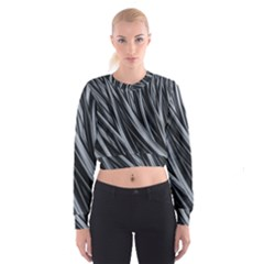 Fractal Mathematics Abstract Cropped Sweatshirt by Sapixe