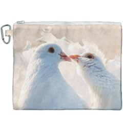 Doves In Love Canvas Cosmetic Bag (xxxl) by FunnyCow
