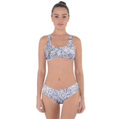 Willow Foliage Abstract Criss Cross Bikini Set by FunnyCow