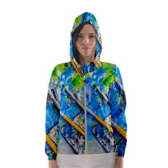 Artist Palette And Brushes Hooded Windbreaker (women) by FunnyCow
