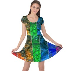 Rainbow Of Water Cap Sleeve Dress by FunnyCow
