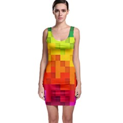 Abstract Background Square Colorful Bodycon Dress