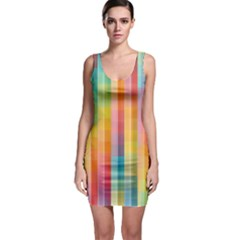 Background Colorful Abstract Bodycon Dress by Nexatart