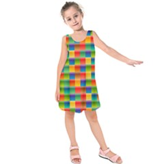 Background Colorful Abstract Kids  Sleeveless Dress by Nexatart