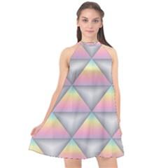Background Colorful Triangle Halter Neckline Chiffon Dress  by Nexatart
