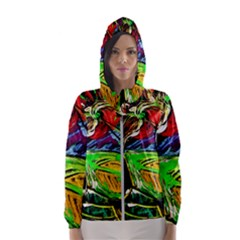 Lillies In The Terracotta Vase 1 Hooded Windbreaker (women) by bestdesignintheworld