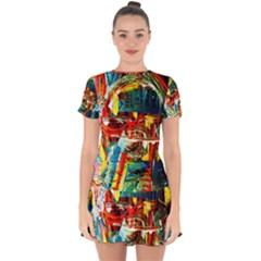 Red Aeroplane 1 Drop Hem Mini Chiffon Dress by bestdesignintheworld