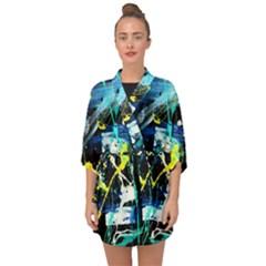 Brain Reflections 2 Half Sleeve Chiffon Kimono by bestdesignintheworld