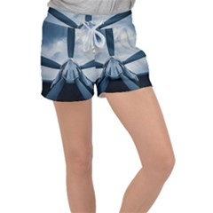 Propeller - Sky Challenger Women s Velour Lounge Shorts by FunnyCow