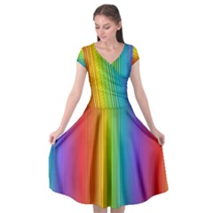 Background Colorful Abstract Cap Sleeve Wrap Front Dress by Nexatart