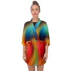 Abstract Spiral Art Creativity Half Sleeve Chiffon Kimono by Nexatart