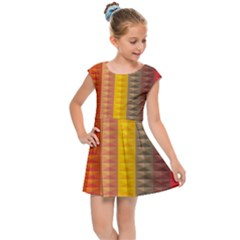 Abstract Pattern Background Kids Cap Sleeve Dress by Nexatart