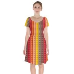 Abstract Pattern Background Short Sleeve Bardot Dress by Nexatart