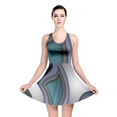 Abstract Background Abstraction Reversible Skater Dress