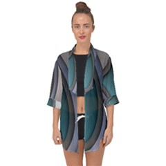 Abstract Background Abstraction Open Front Chiffon Kimono by Nexatart