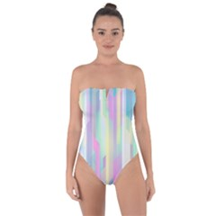 Background Abstract Pastels Tie Back One Piece Swimsuit by Nexatart