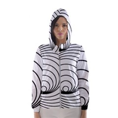 Spiral Eddy Route Symbol Bent Hooded Windbreaker (women)