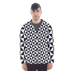 Triangle Pattern Simple Triangular Hooded Windbreaker (men) by Nexatart