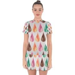 Background Colorful Abstract Drop Hem Mini Chiffon Dress by Nexatart