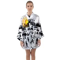 Good Morning, City Long Sleeve Kimono Robe by FunnyCow