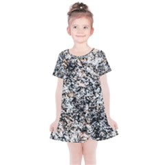 Granite Hard Rock Texture Kids  Simple Cotton Dress by FunnyCow