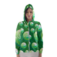 Background Colorful Abstract Circle Hooded Windbreaker (women) by Nexatart