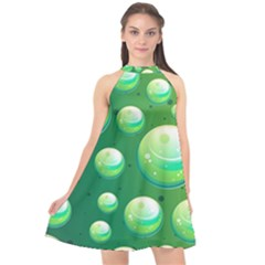 Background Colorful Abstract Circle Halter Neckline Chiffon Dress  by Nexatart
