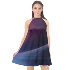 Abstract Form Color Background Halter Neckline Chiffon Dress  by Nexatart