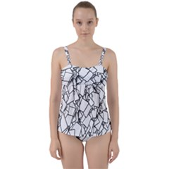 Balloons Feedback Confirming Clouds Twist Front Tankini Set by Nexatart