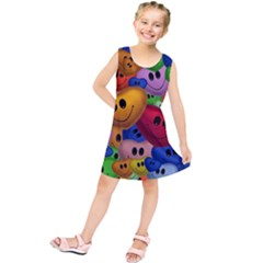 Heart Love Smile Smilie Kids  Tunic Dress by Nexatart