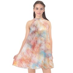 Wallpaper Design Abstract Halter Neckline Chiffon Dress  by Nexatart