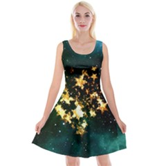 Heart Love Universe Space All Sky Reversible Velvet Sleeveless Dress