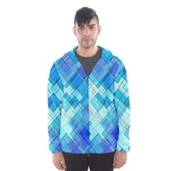 Abstract Squares Arrangement Hooded Windbreaker (men) by Nexatart