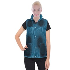 Background Spiral Abstract Pattern Women s Button Up Vest by Nexatart