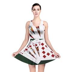 Poker Hands   Royal Flush Diamonds Reversible Skater Dress by FunnyCow