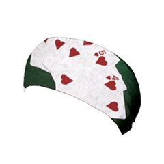Poker Hands Straight Flush Hearts Yoga Headband by FunnyCow
