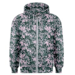Floral Collage Pattern Men s Zipper Hoodie by dflcprints