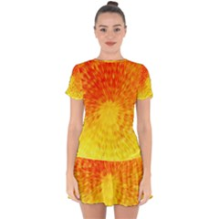 Abstract Explosion Blow Up Circle Drop Hem Mini Chiffon Dress by Nexatart