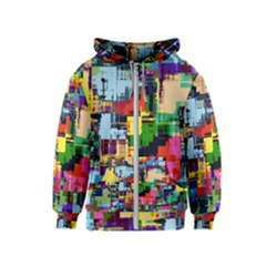 Color Abstract Background Textures Kids  Zipper Hoodie