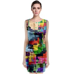 Color Abstract Background Textures Classic Sleeveless Midi Dress by Nexatart