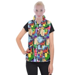 Color Abstract Background Textures Women s Button Up Vest by Nexatart