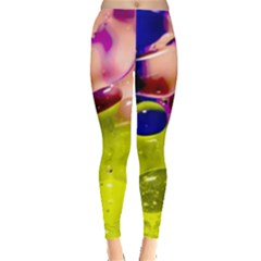 Abstract Bubbles Oil Leggings  by Nexatart