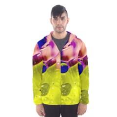 Abstract Bubbles Oil Hooded Windbreaker (men) by Nexatart