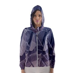 Abstract Background Abstract Minimal Hooded Windbreaker (women)