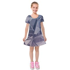 Abstract Background Abstract Minimal Kids  Short Sleeve Velvet Dress by Nexatart