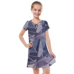 Abstract Background Abstract Minimal Kids  Cross Web Dress by Nexatart
